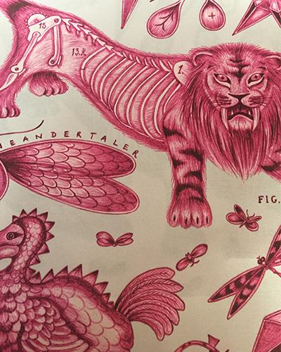 tissu-lion-rouge-clarkeandclarke-tapissier-decorateur-montauban-claire-de-redon