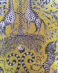 tissu-zebre-jaune-clarkeandclarke-tapissier-decorateur-montauban-claire-de-redon